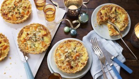 Cheesy Parsnip And Sweet Potato Tarts