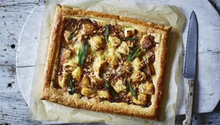 BBC Food - Recipes - Potato, onion, sage and gruyère tart