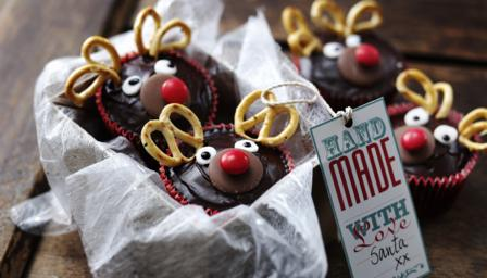 Bbc food recipes reindeer christmas cupcakes forumfinder Image collections