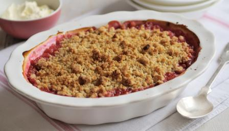 Rhubarb Crumble Recipe Bbc Food