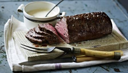 Bbc food recipes roast fillet of beef with roasted garlic and bbc food recipes roast fillet of beef with roasted garlic and mustard cream ccuart Gallery