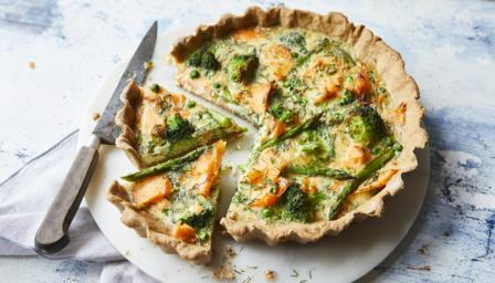 Salmon And Broccoli Quiche Recipe Bbc Food