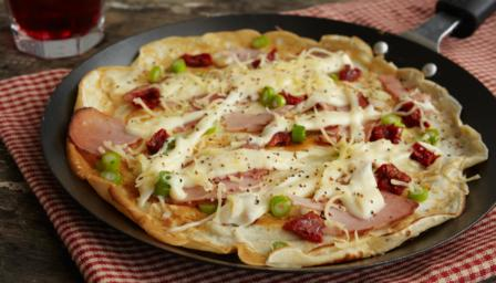 savoury pancakes with ham and cheese recipe bbc food