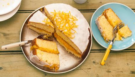 st clements orange and lemon drizzle cake recipe bbc food. Black Bedroom Furniture Sets. Home Design Ideas