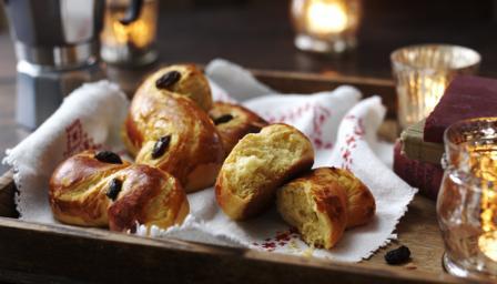 BBC Food - Recipes - Swedish Lucia rolls