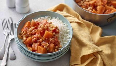 BBC Food - Recipes - Sweet potato and chickpea curry
