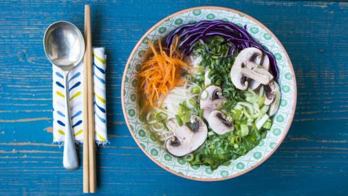 Miso Ramen Soup With Buckwheat Noodles