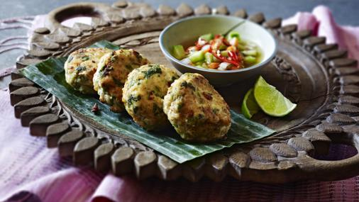 Thai Fish Cakes With A Honey And Cuber Dip