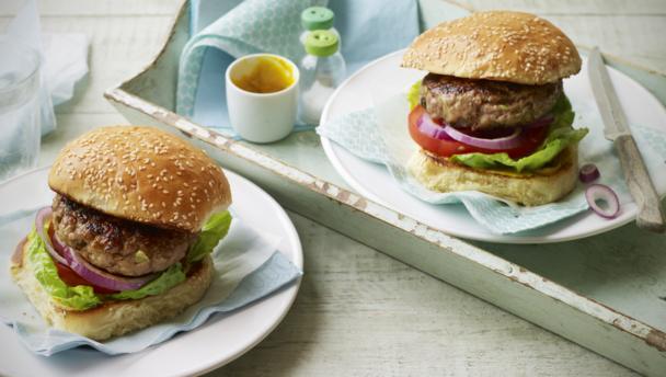 BBC Food - Recipes - Pork and apple burgers