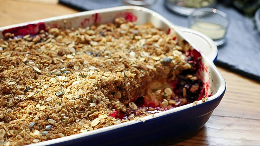 Paul's apple and blackberry crumble