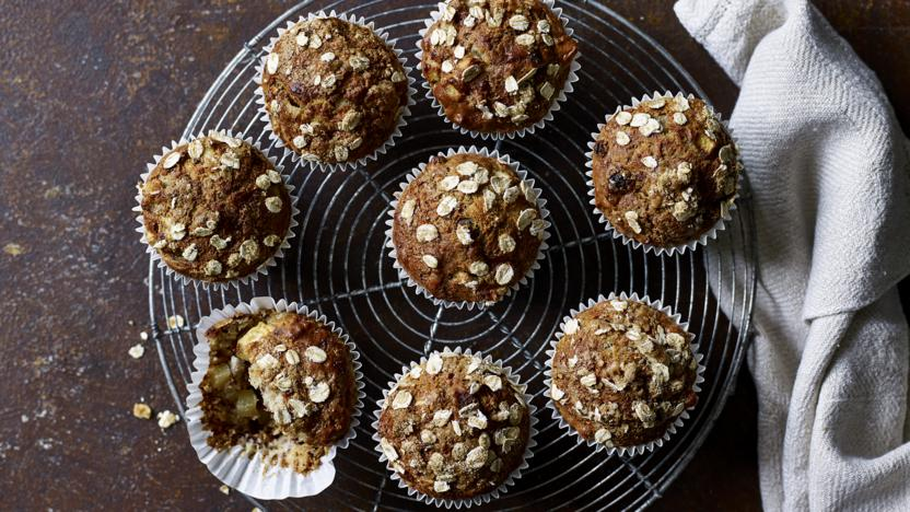 Apple and raisin muffins