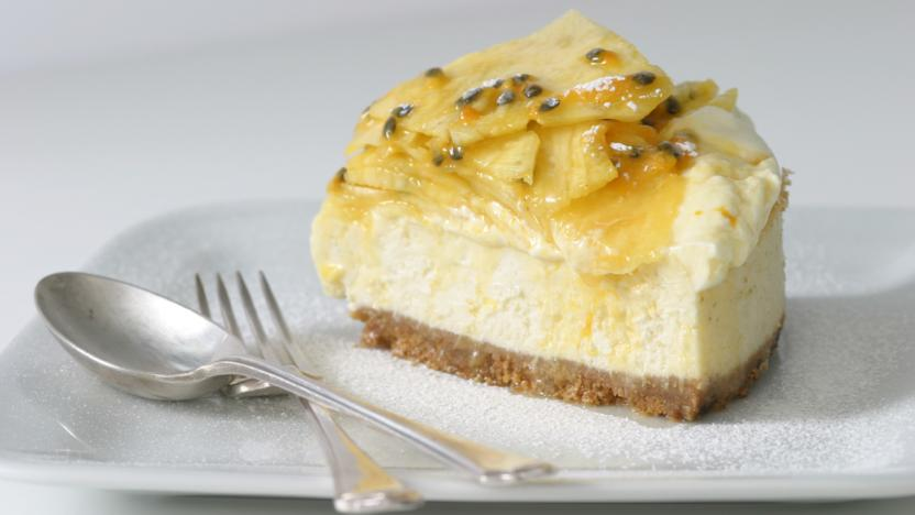 Baked lime cheesecake
