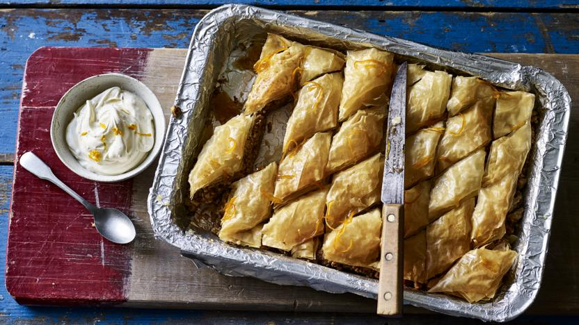 The Hairy Bikers Walnut And Honey Baklava Recipe Bbc Food