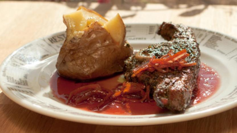 Barnsley chops with Cumberland sauce