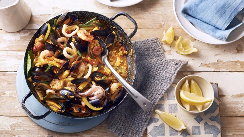 Beachside paella