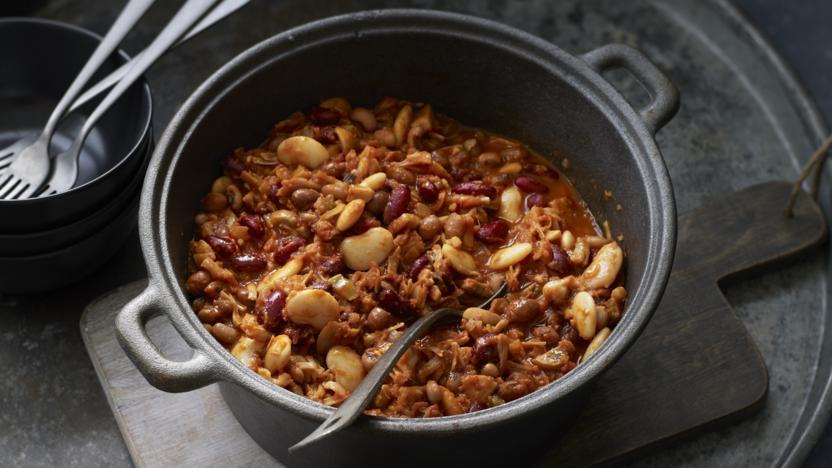 Bean Chilli With Jackfruit Recipe Bbc Food