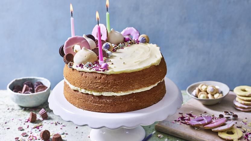 Admirable Birthday Cake Recipe Bbc Food Funny Birthday Cards Online Overcheapnameinfo