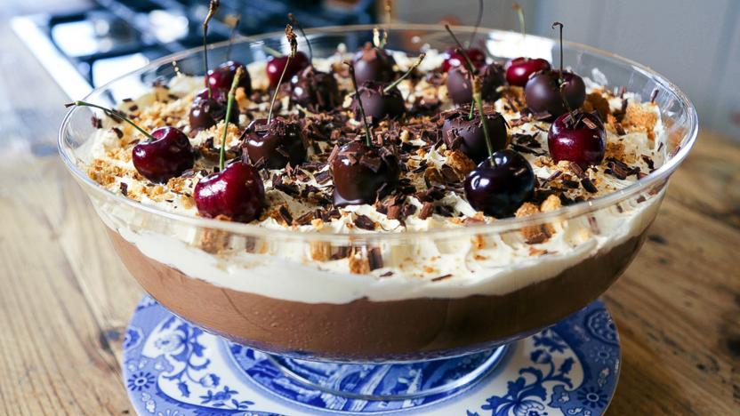 Black Forest gâteau trifle
