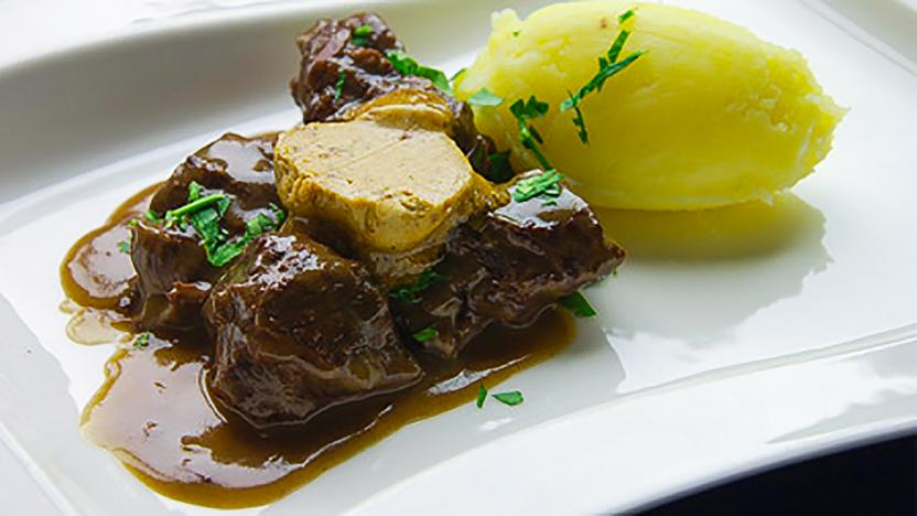 Braised ox cheeks with gentleman's relish