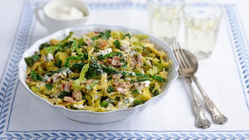 Braised cabbage with bacon