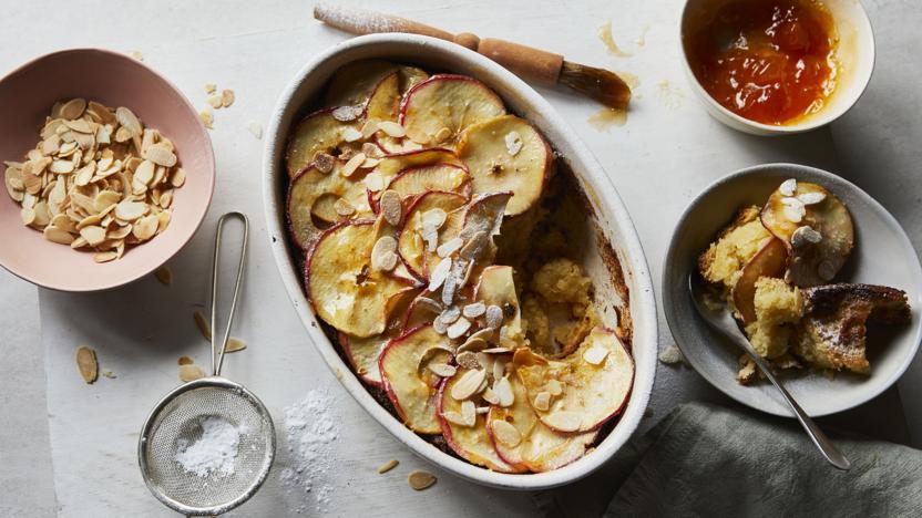 Brioche frangipane apple pudding