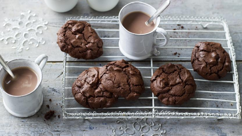 Triple chocolate buckwheat cookies