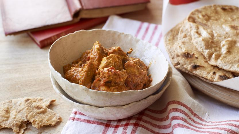 Butter Chicken Curry And Chapati Recipe Bbc Food