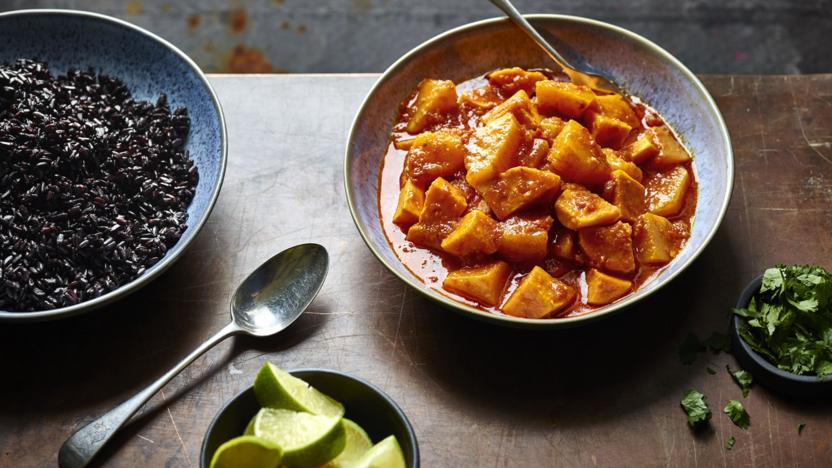 Butternut and sweet potato curry