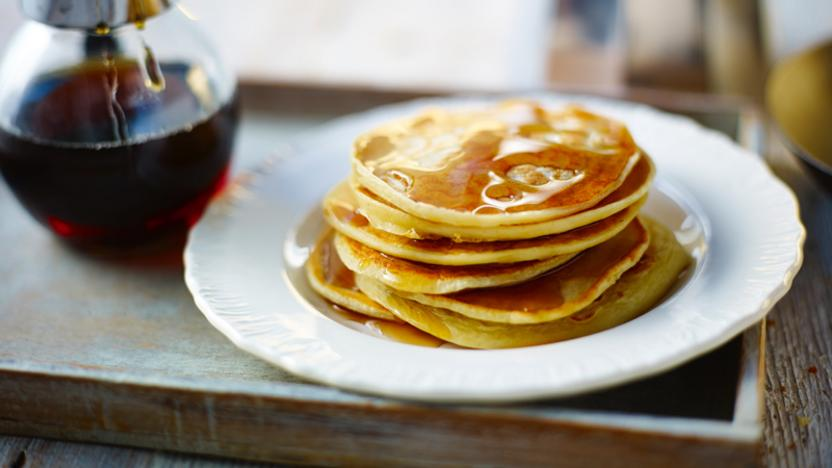 Canadian buttermilk pancakes with maple syrup recipe bbc food canadian buttermilk pancakes with maple syrup forumfinder Choice Image