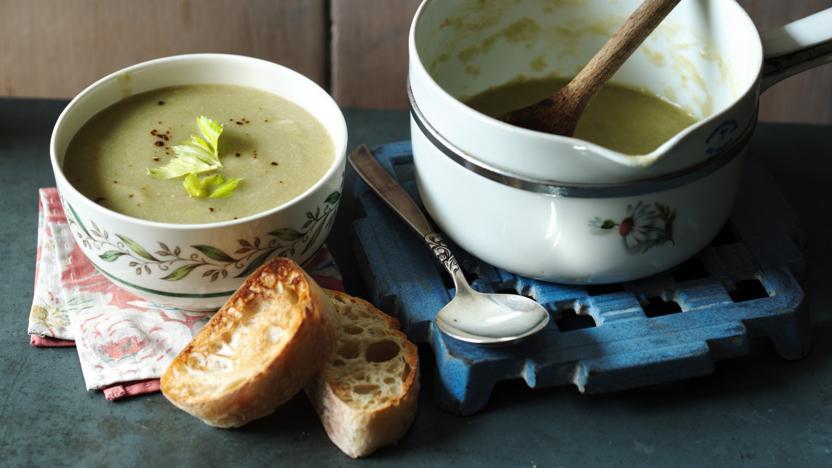 how to make celery soup recipe