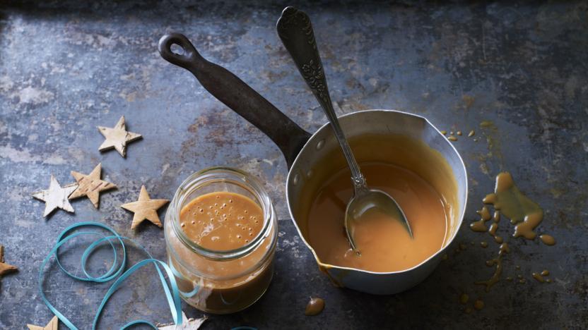 Cheat's salted caramel sauce