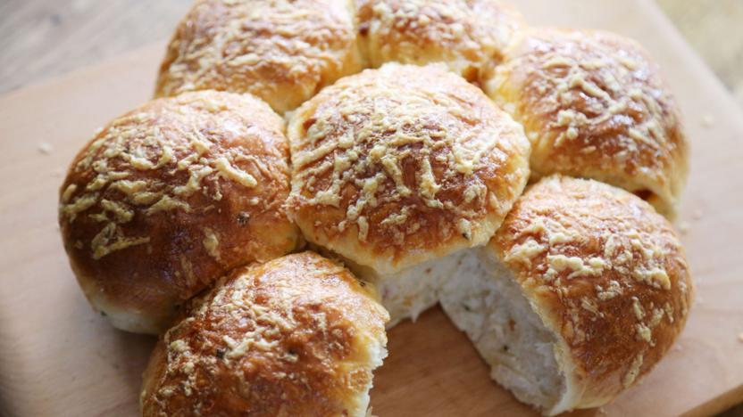 Cheese and chorizo rolls