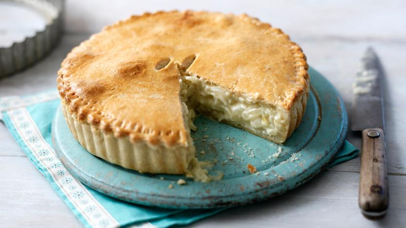 Cheese and onion pie recipe bbc food cheese and onion pie forumfinder