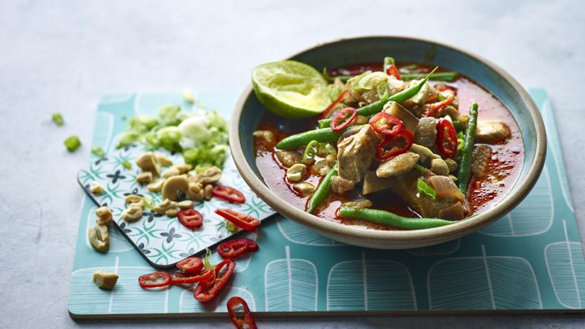 Chicken and aubergine massaman curry