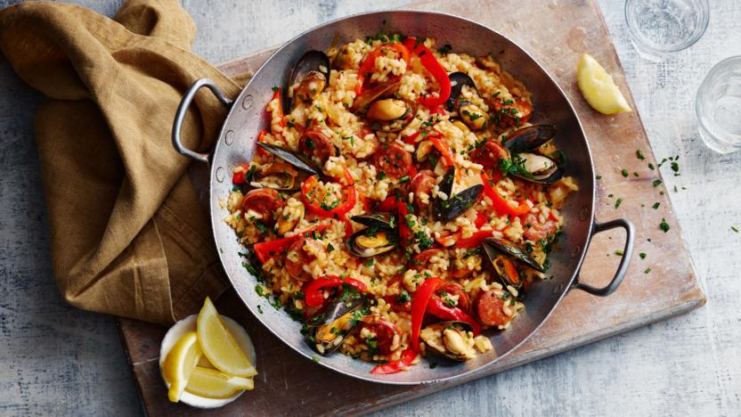 Chicken And Chorizo Paella Recipe Bbc Food