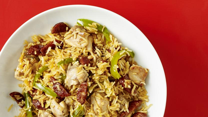 Chicken and chorizo rice recipe
