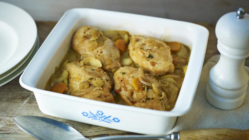 Chicken cider and apple casserole recipe bbc food chicken cider and apple casserole forumfinder Image collections