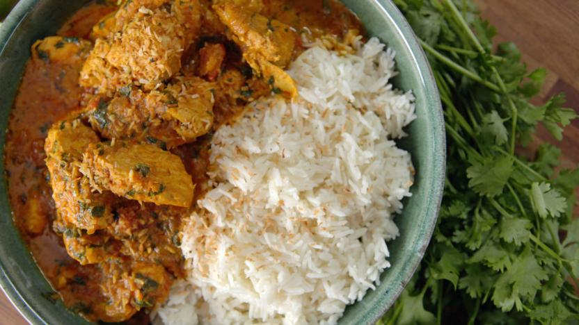 Chicken curry with basmati rice recipe bbc food chicken curry with basmati rice forumfinder Image collections