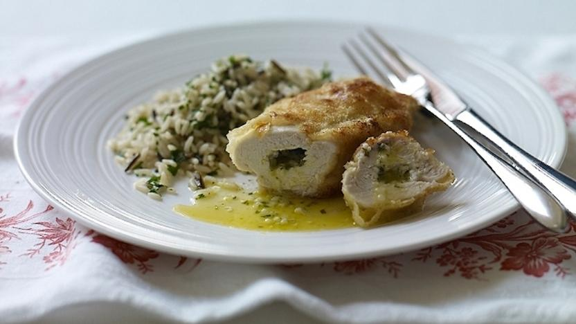 Homemade Chicken Kiev Recipe Bbc Food
