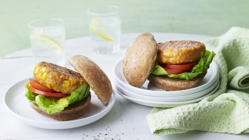 Healthy chickpea burgers