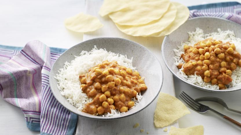 5-ingredient chickpea coconut curry