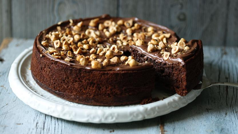 Chocolate hazelnut cake recipe bbc food chocolate hazelnut cake forumfinder Gallery