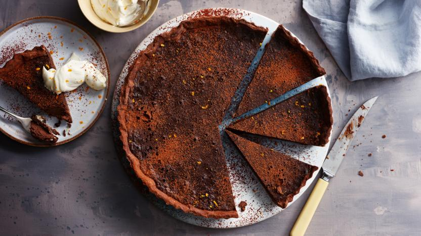 Chocolate orange tart