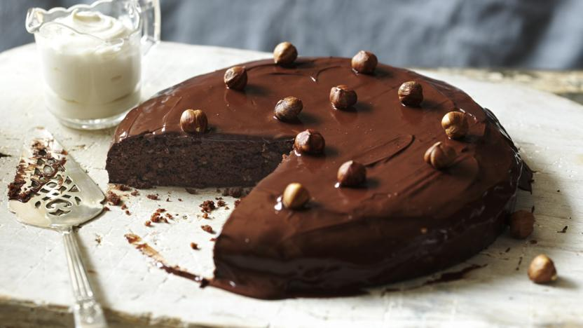 Chocolate and hazelnut torte