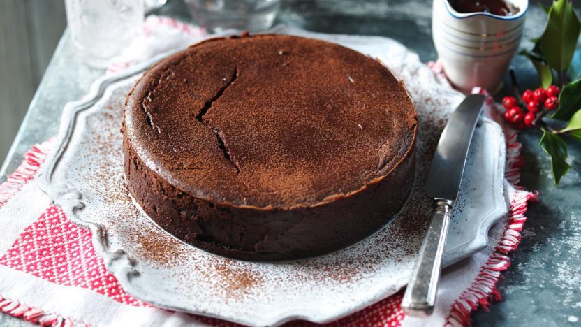 Chocolate Christmas pudding cheesecake