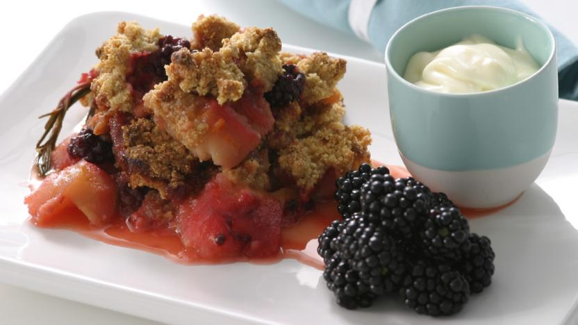Strawberry and Almond Crumble Recipe - Food Network