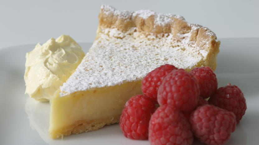Citrus tart with rich shortcrust pastry