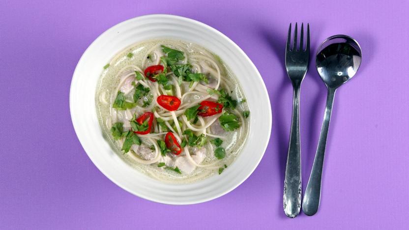Coconut chicken noodle soup