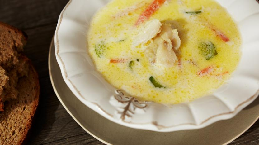 Codfish (klippfisk) soup
