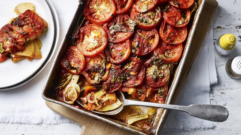 Cornish briam (roasted vegetable traybake)